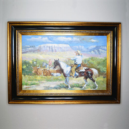 Oil Painting - A Cowboy's Life